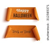 Two Halloween Banners  Isolate...