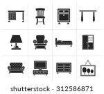 black home equipment and...   Shutterstock .eps vector #312586871