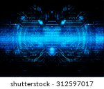dark blue color light abstract... | Shutterstock .eps vector #312597017