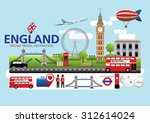 london england travel... | Shutterstock .eps vector #312614024