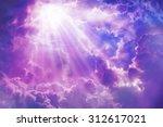 Purple Sky With Sun And...