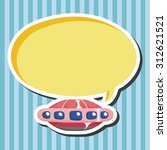 ufo  cartoon speech icon   Shutterstock . vector #312621521