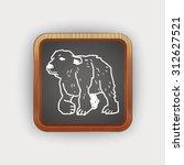polar bear doodle | Shutterstock . vector #312627521