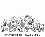 planning concept with pencil... | Shutterstock . vector #312636569