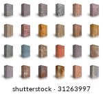 collection of wood  metal  ...   Shutterstock . vector #31263997
