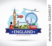 london  england vector travel... | Shutterstock .eps vector #312640157