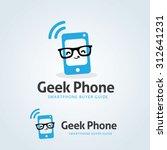 geek phone logo template | Shutterstock .eps vector #312641231