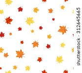 autumn  seamless pattern  with... | Shutterstock .eps vector #312645665