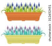 vector illustration with flower ... | Shutterstock .eps vector #312652451