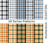 set of ten tartan patterns | Shutterstock .eps vector #312657281