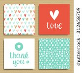 set of greeting cards  love and ... | Shutterstock .eps vector #312658709