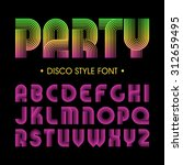 disco party style font | Shutterstock .eps vector #312659495