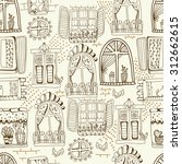 seamless pattern with cute... | Shutterstock .eps vector #312662615