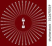 open lock. icon. vector design | Shutterstock .eps vector #312670319