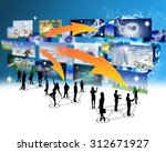 business peoples silhouettes...   Shutterstock . vector #312671927