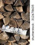 firewood | Shutterstock . vector #312678635