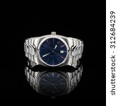 swiss watches on black... | Shutterstock . vector #312684239
