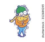 man wearing winter fashion get...   Shutterstock .eps vector #312684245