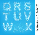 alphabet of soap bubbles vector ...   Shutterstock .eps vector #312684269