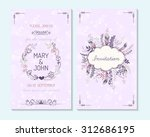 wedding invitation  thank you... | Shutterstock .eps vector #312686195