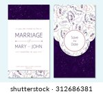 wedding invitation  thank you... | Shutterstock .eps vector #312686381