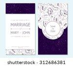 wedding invitation  thank you... | Shutterstock .eps vector #312686381