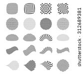 set of halftone elements | Shutterstock . vector #312689381