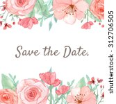 flower wedding invitation card  ... | Shutterstock . vector #312706505