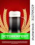 octoberfest celebration beer... | Shutterstock .eps vector #312709229
