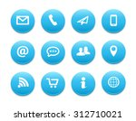 contact round icons | Shutterstock .eps vector #312710021