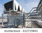 ventilation system pipes of big ... | Shutterstock . vector #312715841