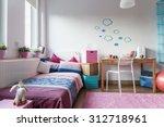 little girl's room   modern and ... | Shutterstock . vector #312718961