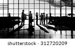 back lit business people... | Shutterstock . vector #312720209