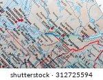 map view of appallache mountains   Shutterstock . vector #312725594