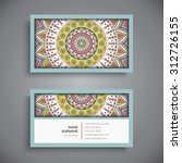 business card. vintage... | Shutterstock .eps vector #312726155