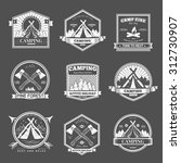 retro vector vintage camp label ... | Shutterstock .eps vector #312730907
