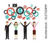 social media design  vector... | Shutterstock .eps vector #312732899