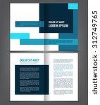 vector empty bi fold brochure... | Shutterstock .eps vector #312749765