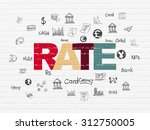 currency concept  painted... | Shutterstock . vector #312750005