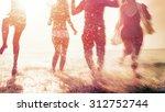 friendship freedom beach summer ... | Shutterstock . vector #312752744