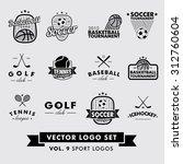 retro vintage hipster sport...   Shutterstock .eps vector #312760604