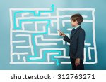teenager boy businessman... | Shutterstock . vector #312763271