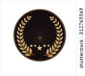 gold laurel wreath emblem award ...   Shutterstock .eps vector #312765569