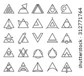 vector set of triangle... | Shutterstock .eps vector #312771764