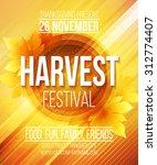 harvest festival poster. vector ...   Shutterstock .eps vector #312774407