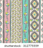 seamless paisley background.... | Shutterstock .eps vector #312775559