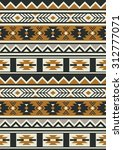 seamless ethnic pattern design. ... | Shutterstock .eps vector #312777071