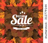 autumn sale leaves background... | Shutterstock .eps vector #312779144