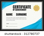 horizontal certificate template ... | Shutterstock .eps vector #312780737