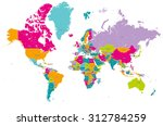 world map vector with countries | Shutterstock .eps vector #312784259